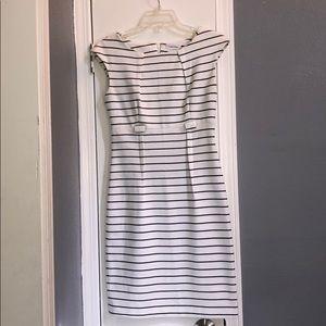 Calvin Klein Dresses - Calvin Klein white and black stripped dress